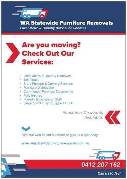 Great WA Statewide Furniture Removals